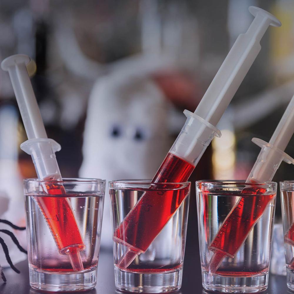 drink med blodsprutor