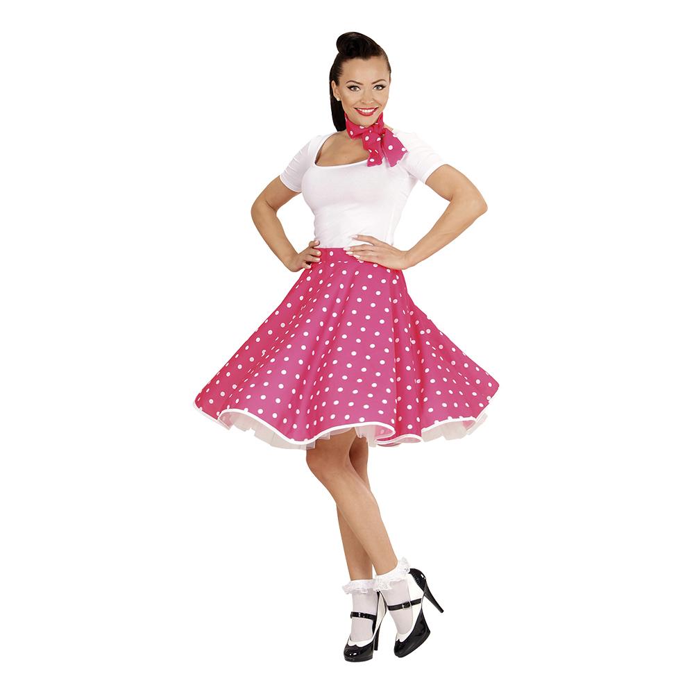 50 talls Skjørt Rosa Kostyme One size