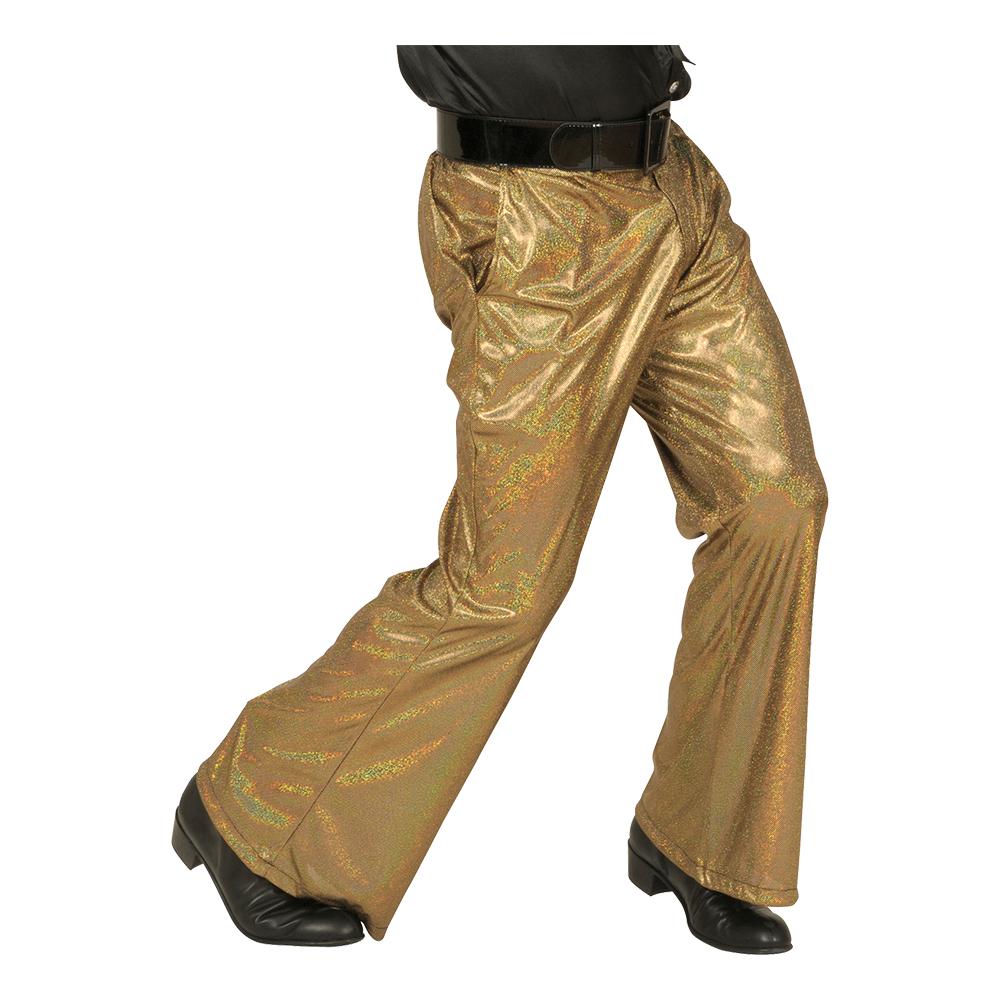 mode stilarter fuldstændig stilfuld bred vifte 70'er Guld Bukser-M/L