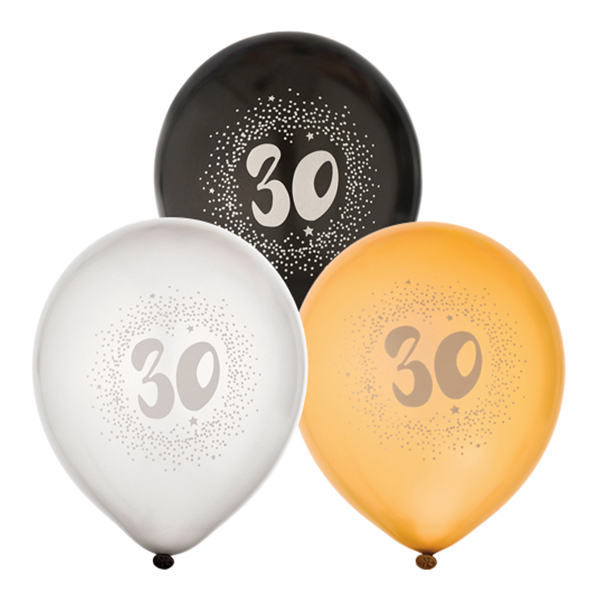 Ballonger Svart/Vit/Guld 30