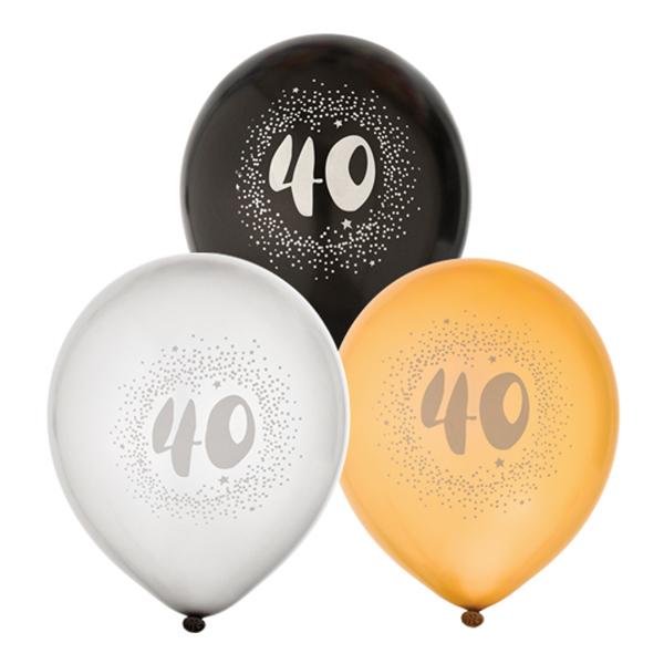Ballonger Svart/Vit/Guld 40