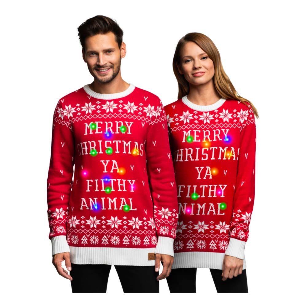Merry Cheermas LED Julegenser – Small Gave til pappa