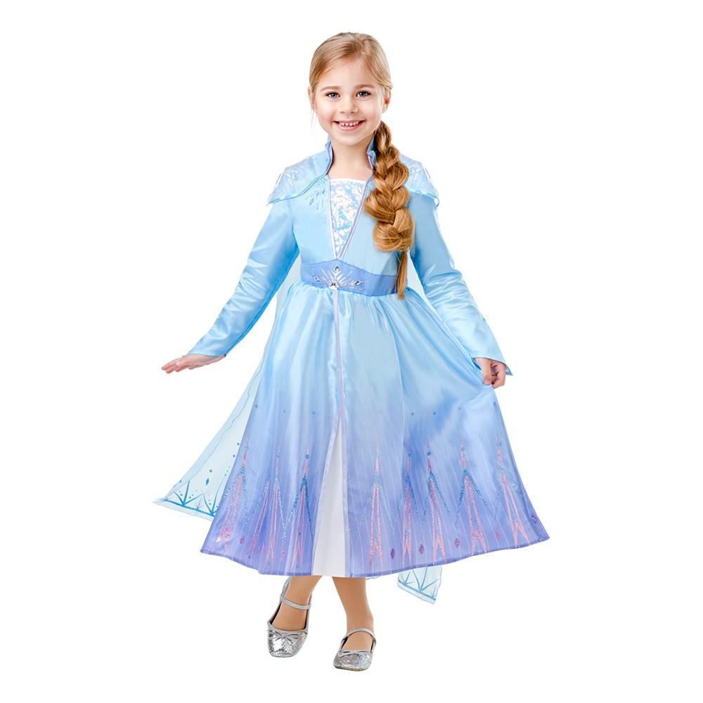 Frozen 2 Elsa Deluxe Lapset Naamiaisasu Partyking.fi