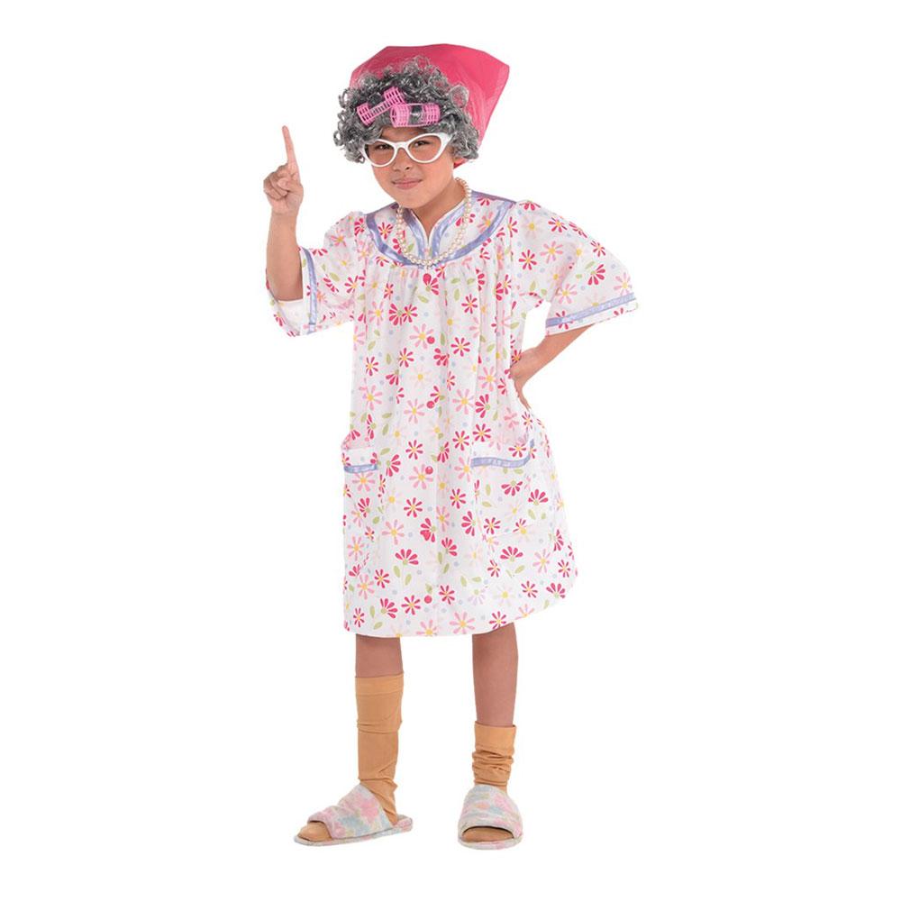 Gammal Tant Barn Maskeraddräkt | Partykungen