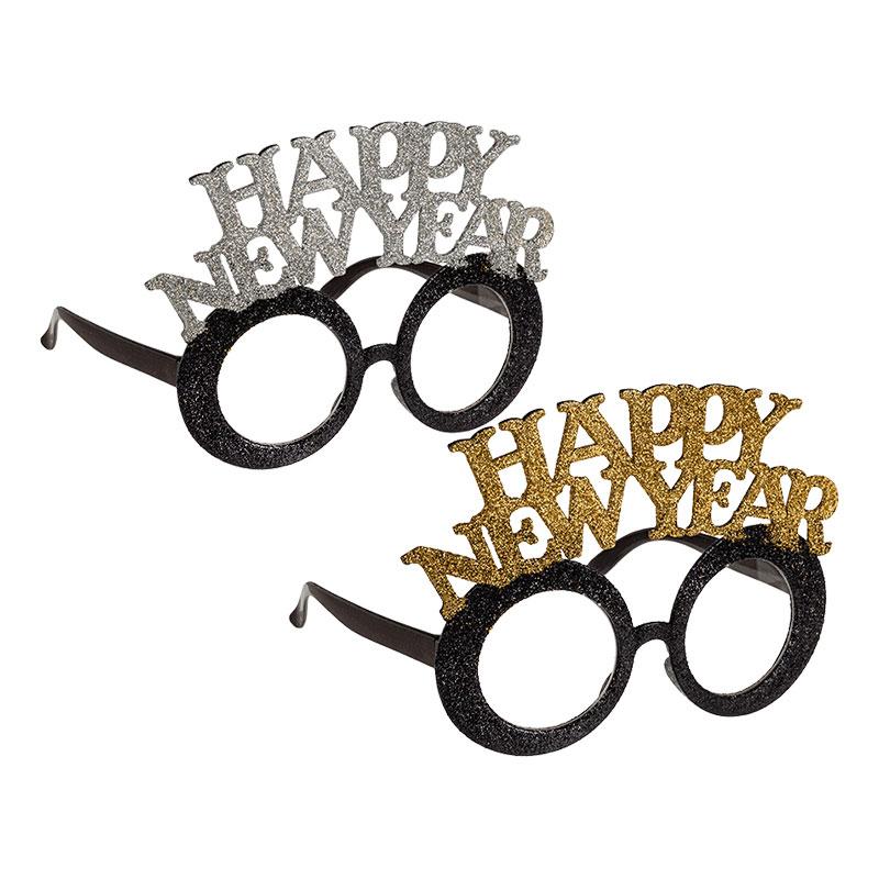 Glasögon Happy New Year Glitter