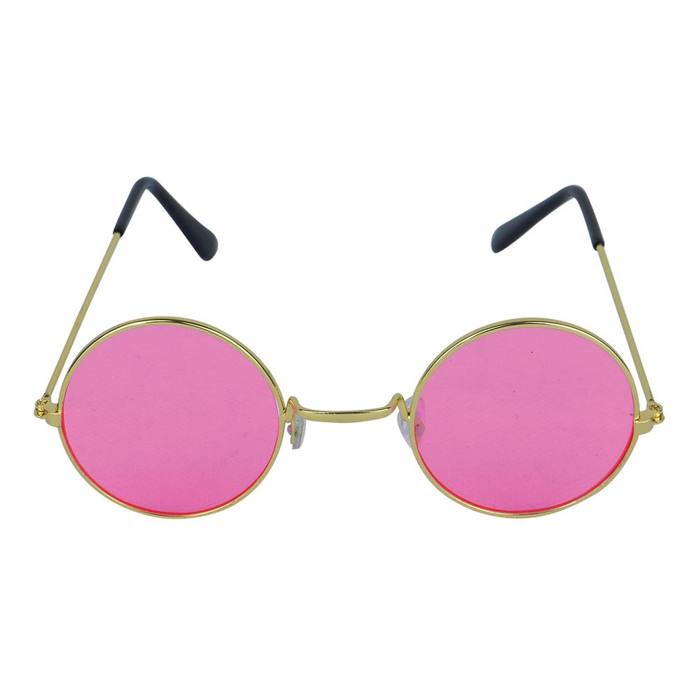 Briller Runde Rosa med Gullfargede Buer