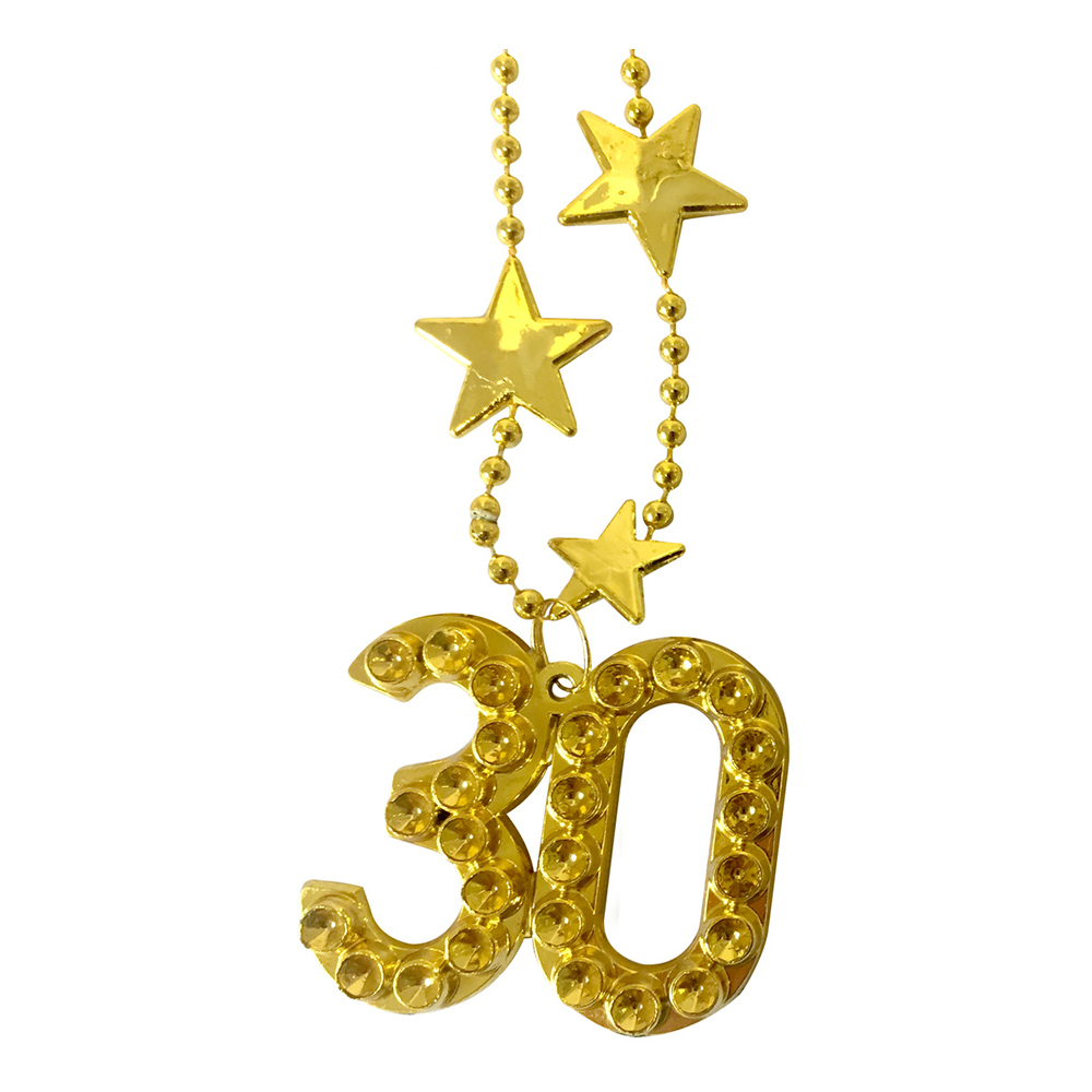 Halsband Guld Siffra 30
