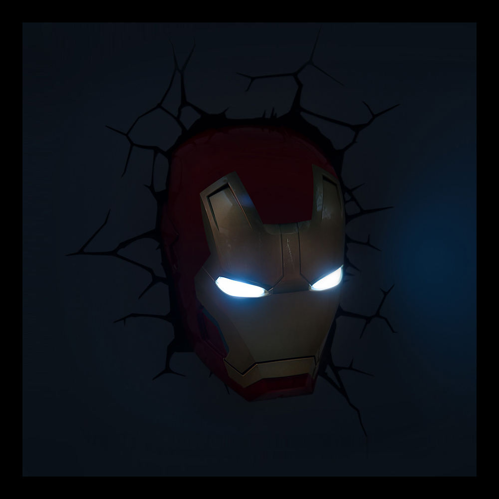 Iron Man Vegglampe Partyking.no