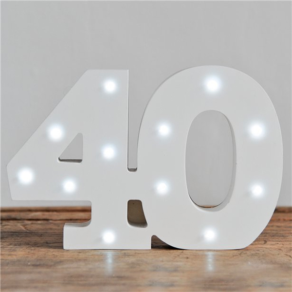 LED Sifferlampa 40 Vit