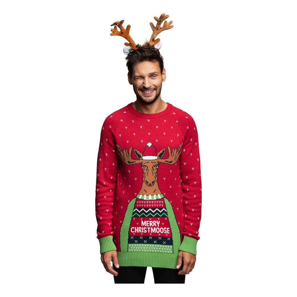 Merry Christmoose Julegenser X Small