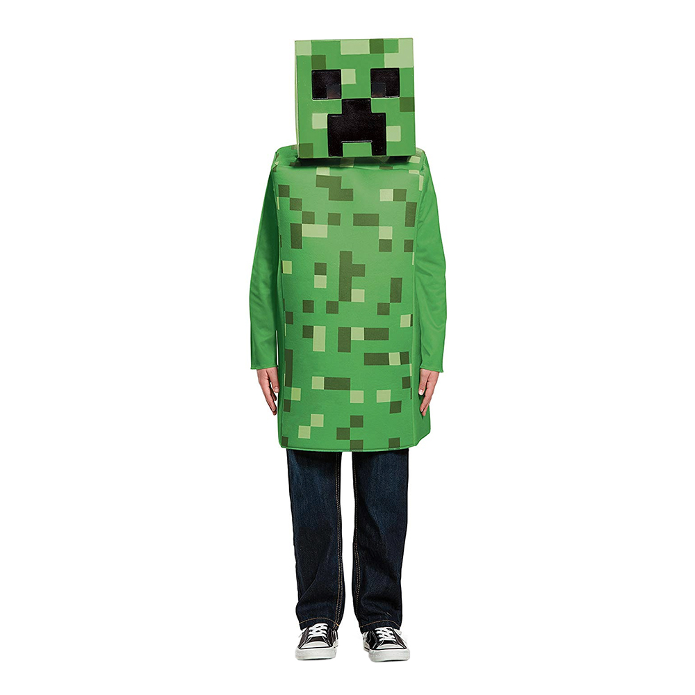 Minecraft Creeper Barn Maskeraddräkt Small