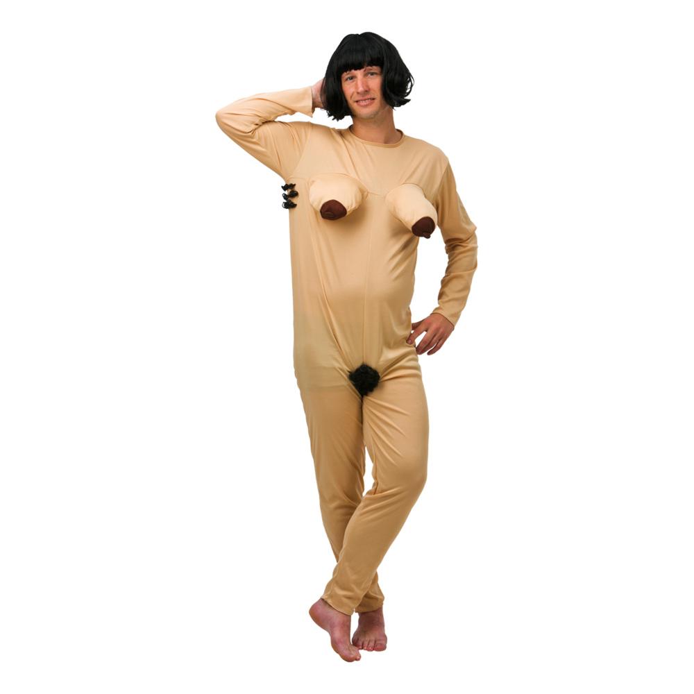 Nøgen Kvinde Kostume SmallMedium