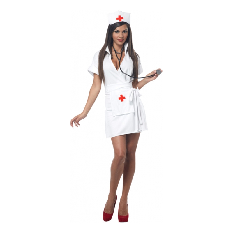 Sjuksköterska Vit Maskeraddräkt