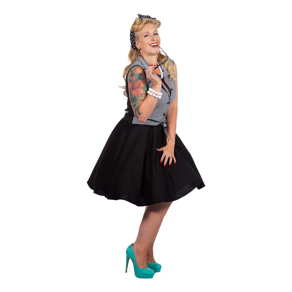 Rockabilly Klänning med Kjol Maskeraddräkt | Partykungen
