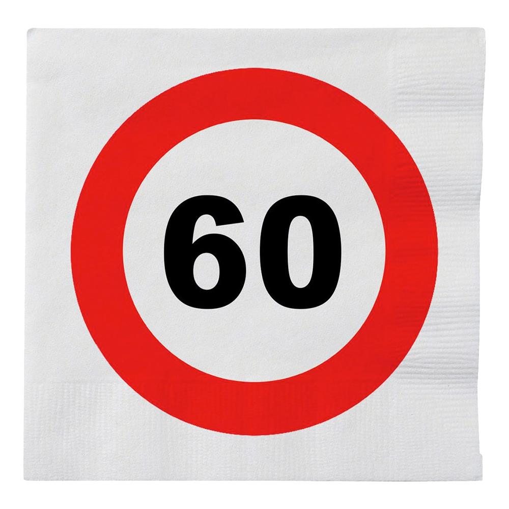 Servetter Trafikskylt 60