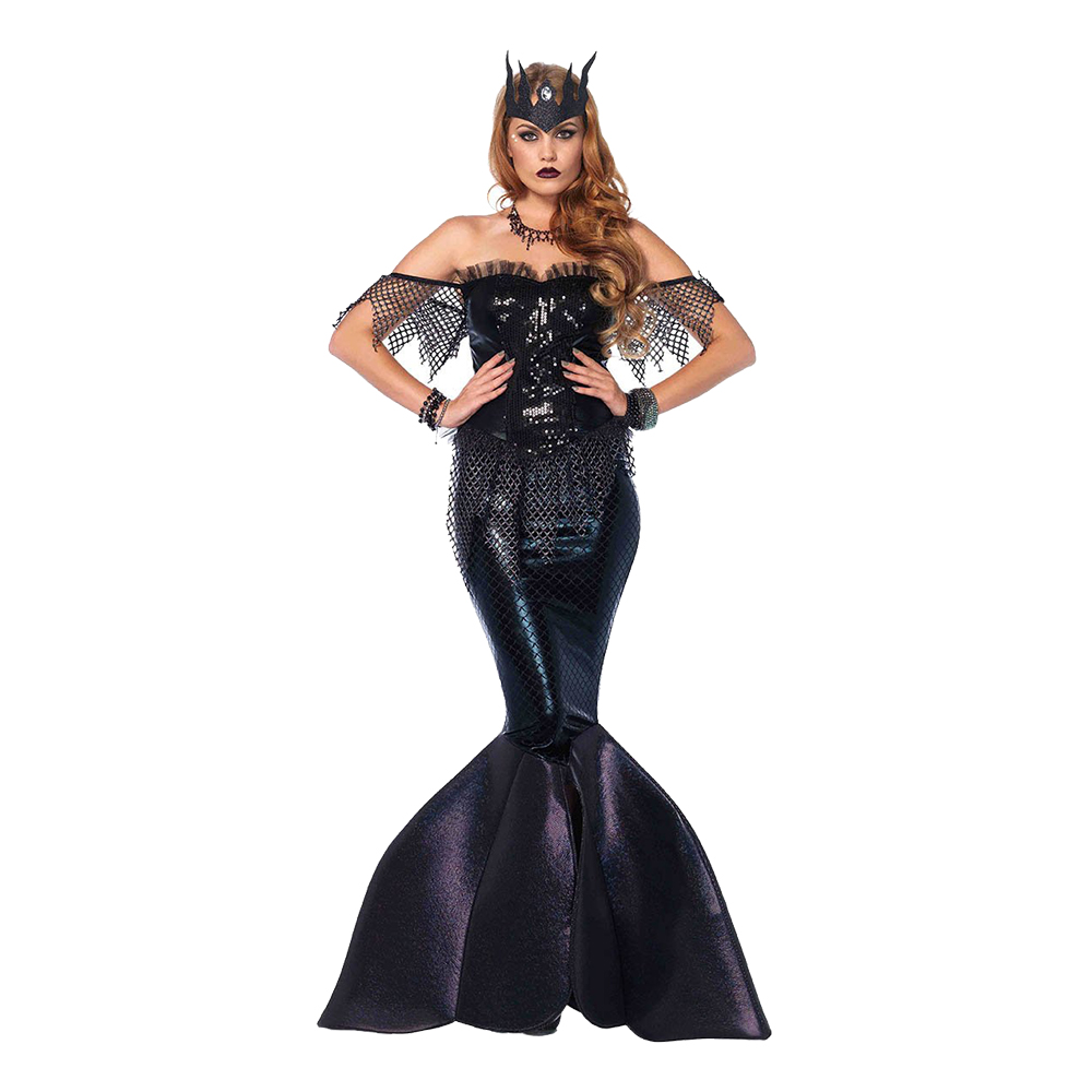 Halloween Maskerad.Sjojungfru Drottning Halloween Deluxe Maskeraddrakt Small