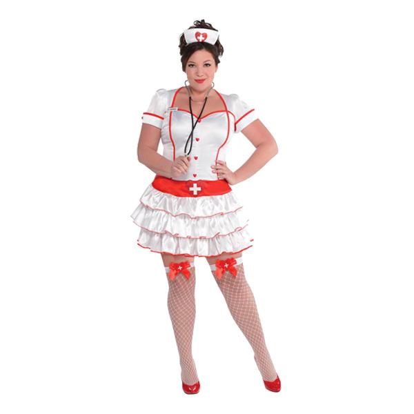 Sjuksköterska Plus-size Maskeraddräkt