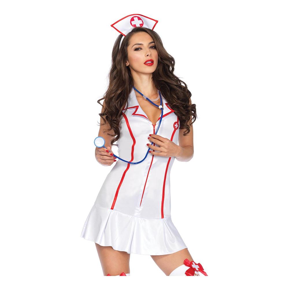 Söt Sjuksköterska Deluxe Maskeraddräkt SmallMedium
