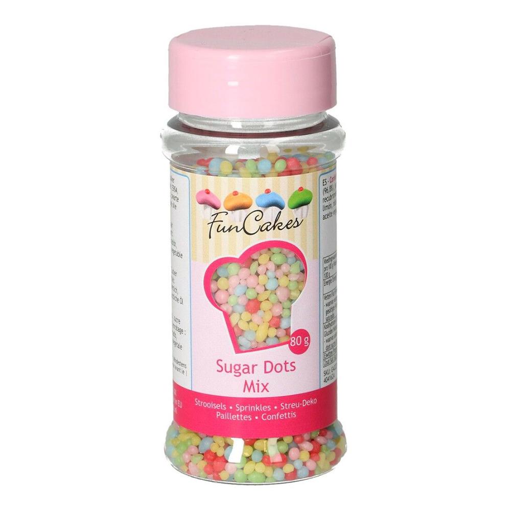 FunCakes Strössel Sugar Dots Mix - 80 g