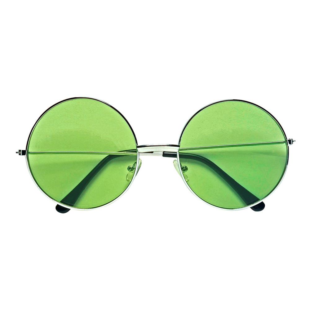 70-tals Glasögon Hippie Grön