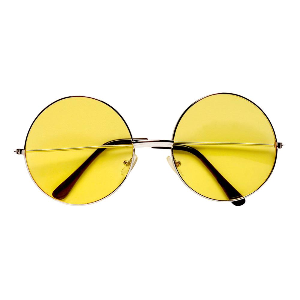 70-tals Glasögon Hippie Gul
