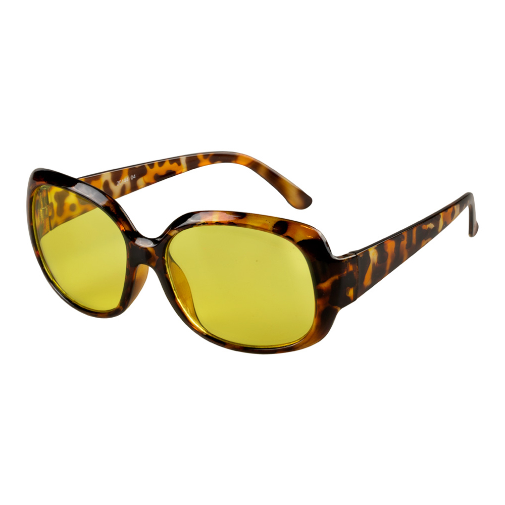 70-tals Glasögon Leopardmönstrade - One size