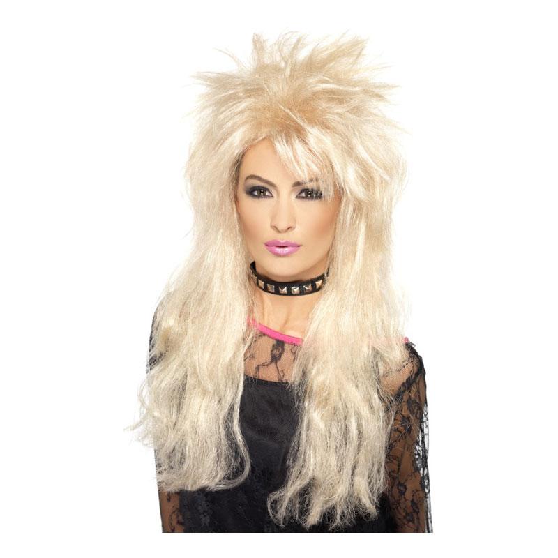 80-tals Blond Rockperuk - One size