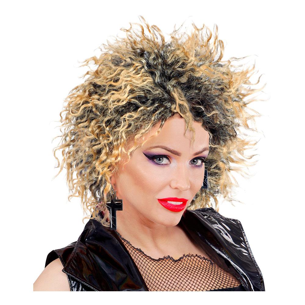 80-tals Pop Stjärna Kort Peruk - One size