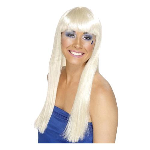 Dansande Drottning Blond Peruk - One size
