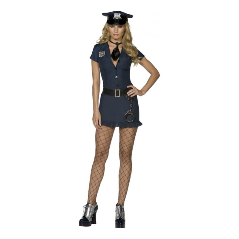 Poliskvinna Maskeraddräkt - Small