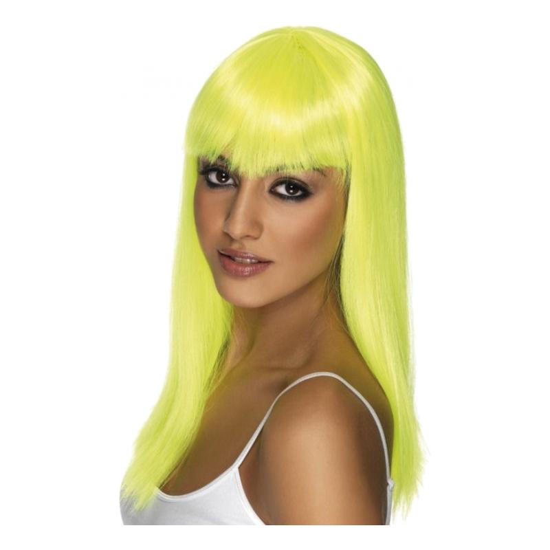 Glamourama Neongul Peruk - One size