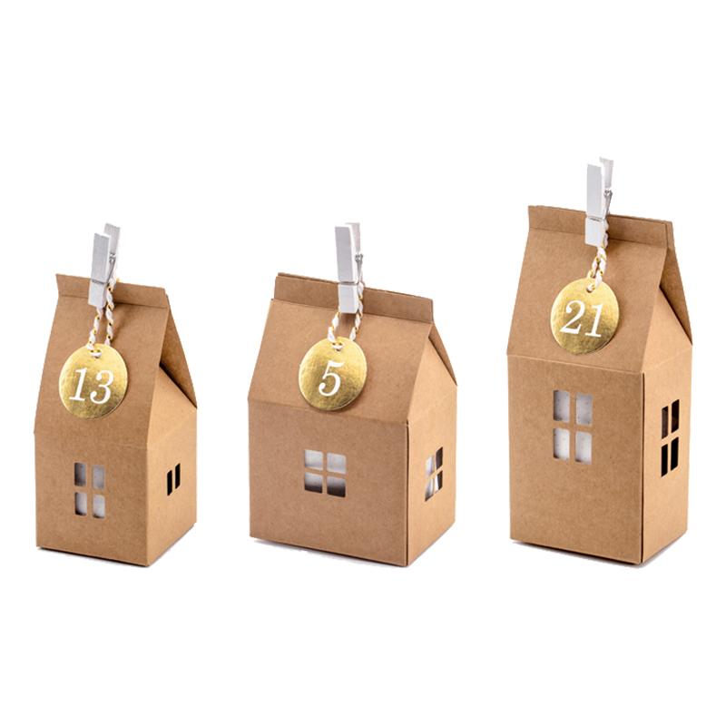 Adventskalender Hus med Siffror - 24-pack