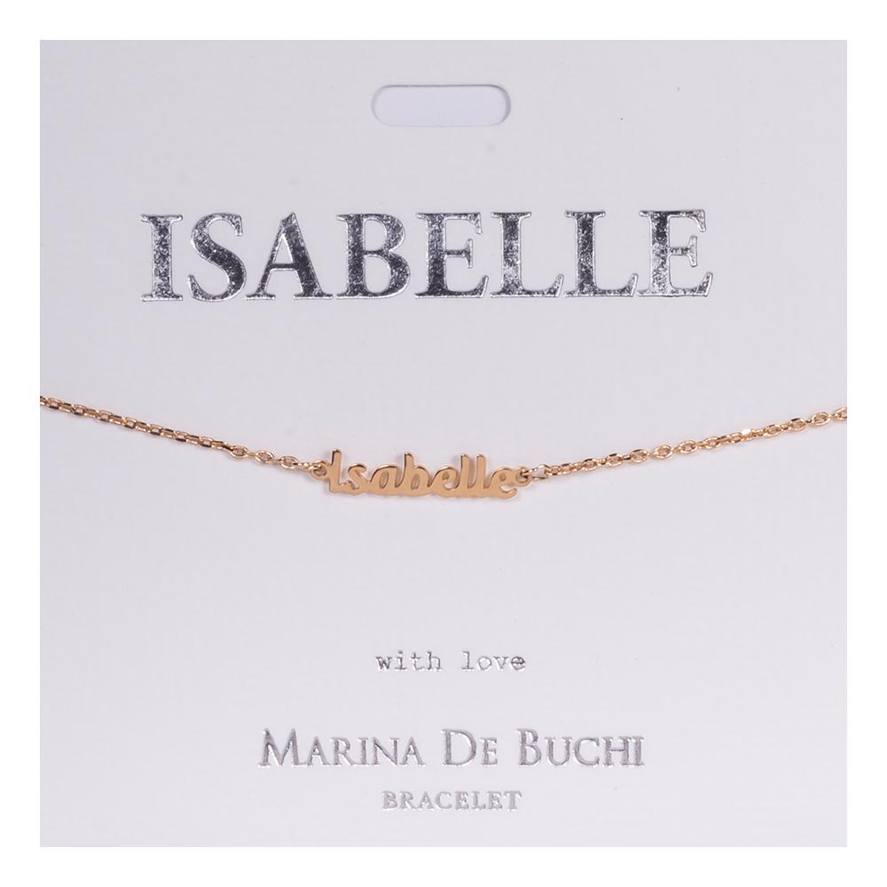 Namnarmband Guld - Isabelle