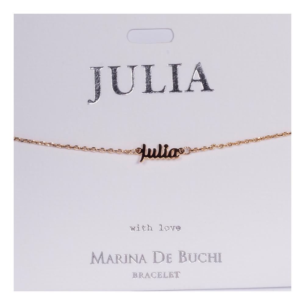 Namnarmband Guld - Julia