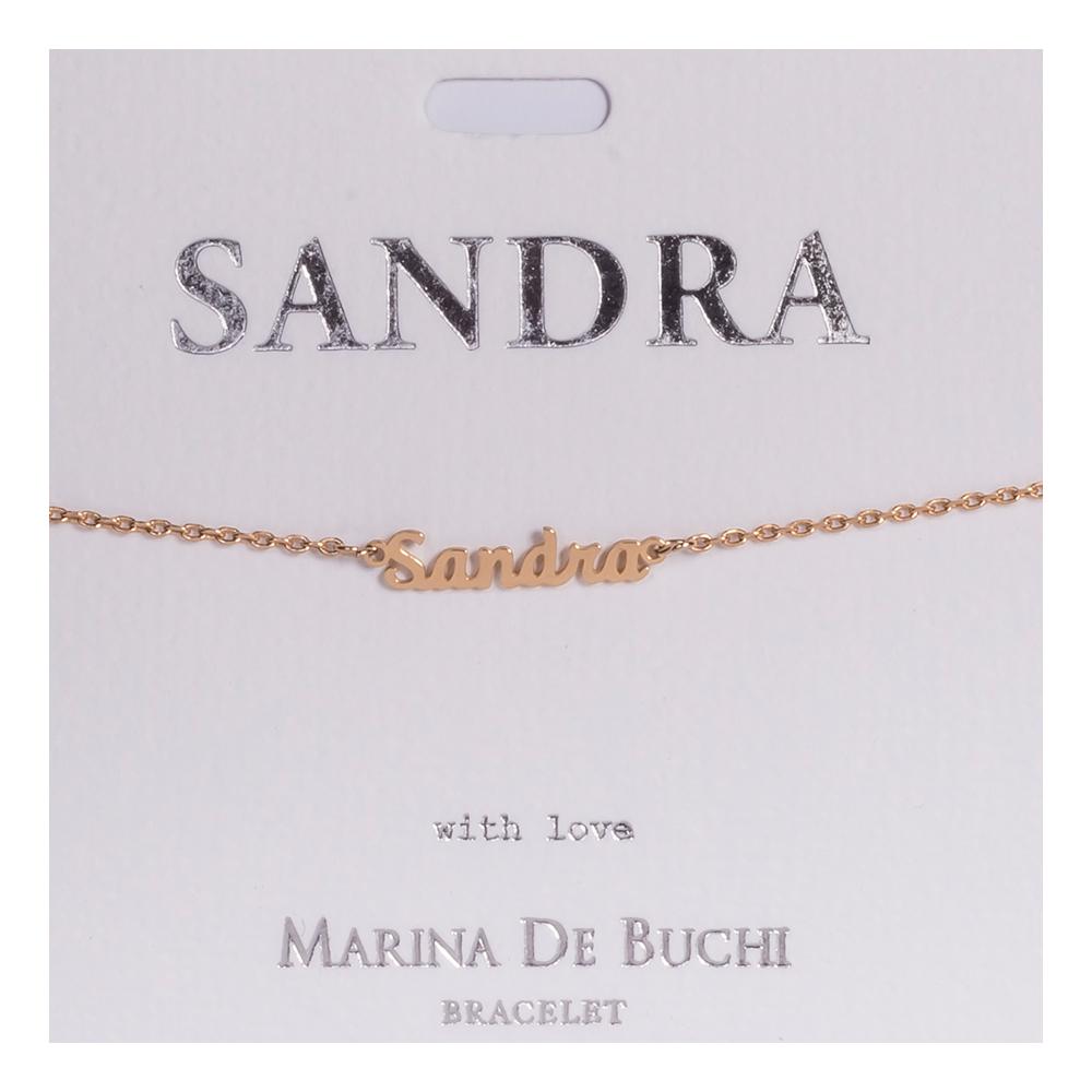 Namnarmband Guld - Sandra