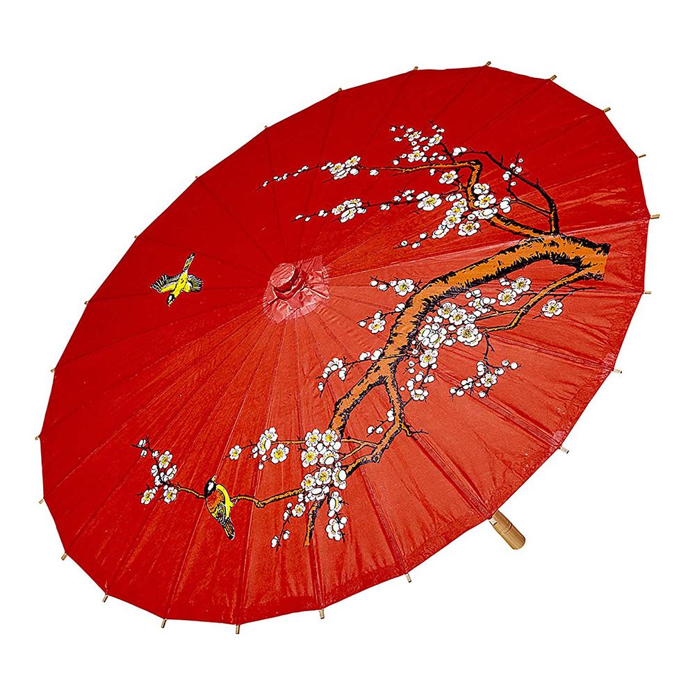 Asiatiskt Paraply Rött