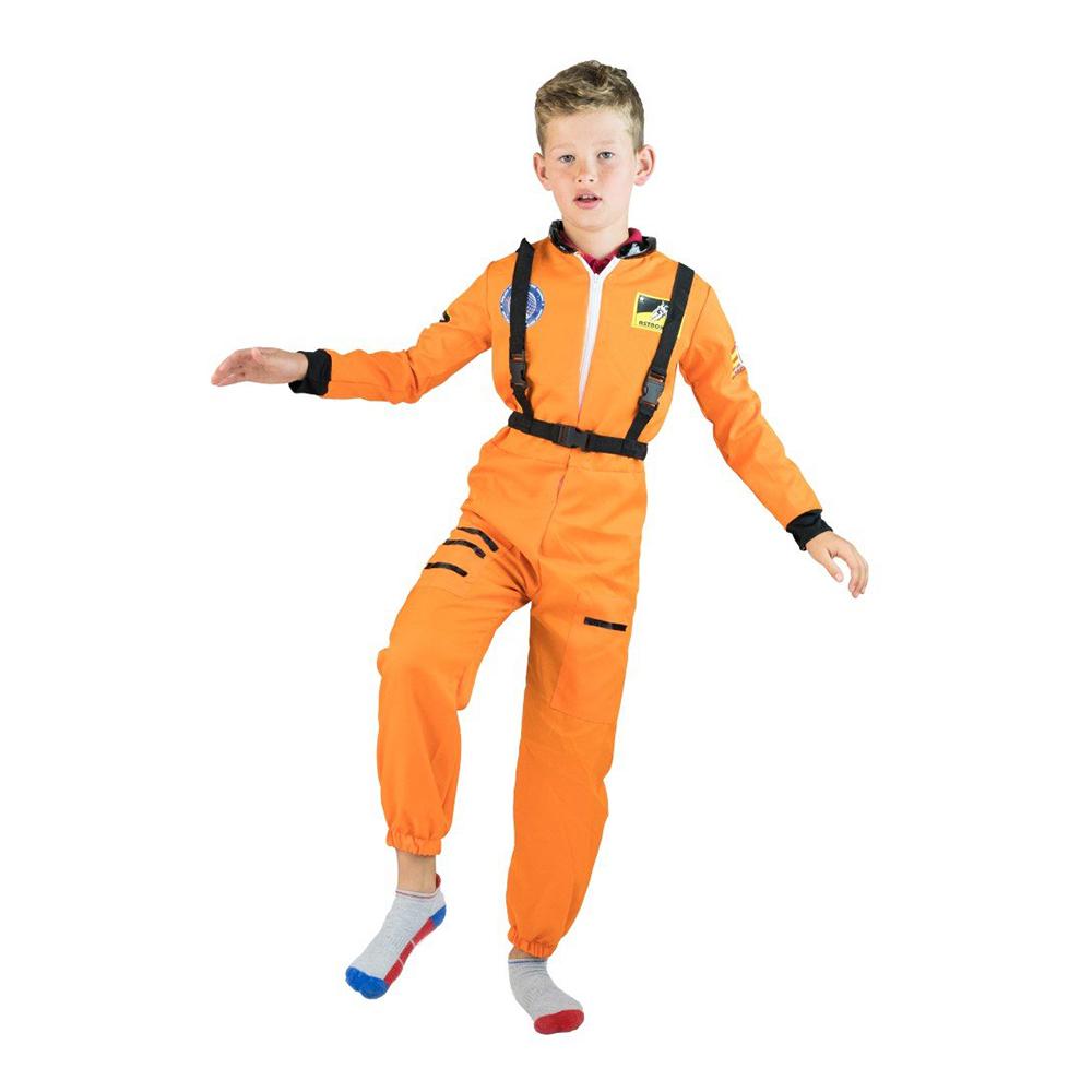 Astronaut Orange Budget Barn Maskeraddräkt - 3-5 år