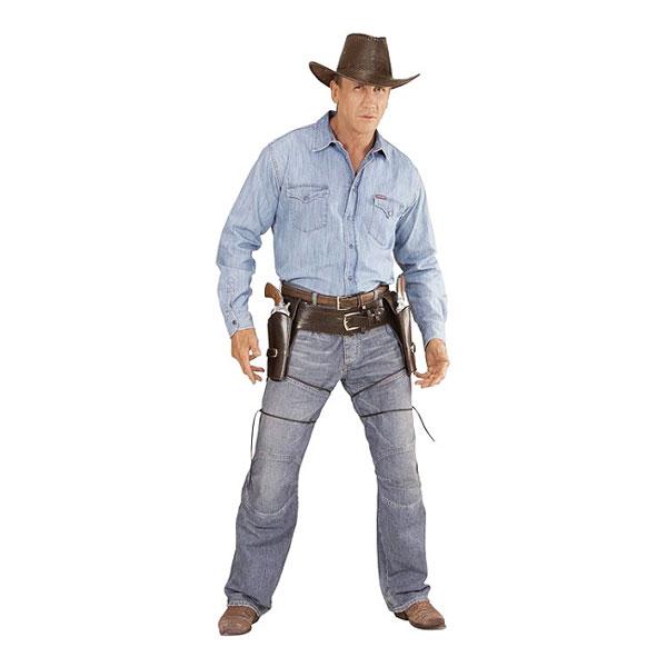 Autentiskt Cowboyhölster Dubbel