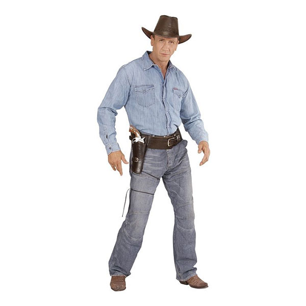 Autentiskt Cowboyhölster Singel