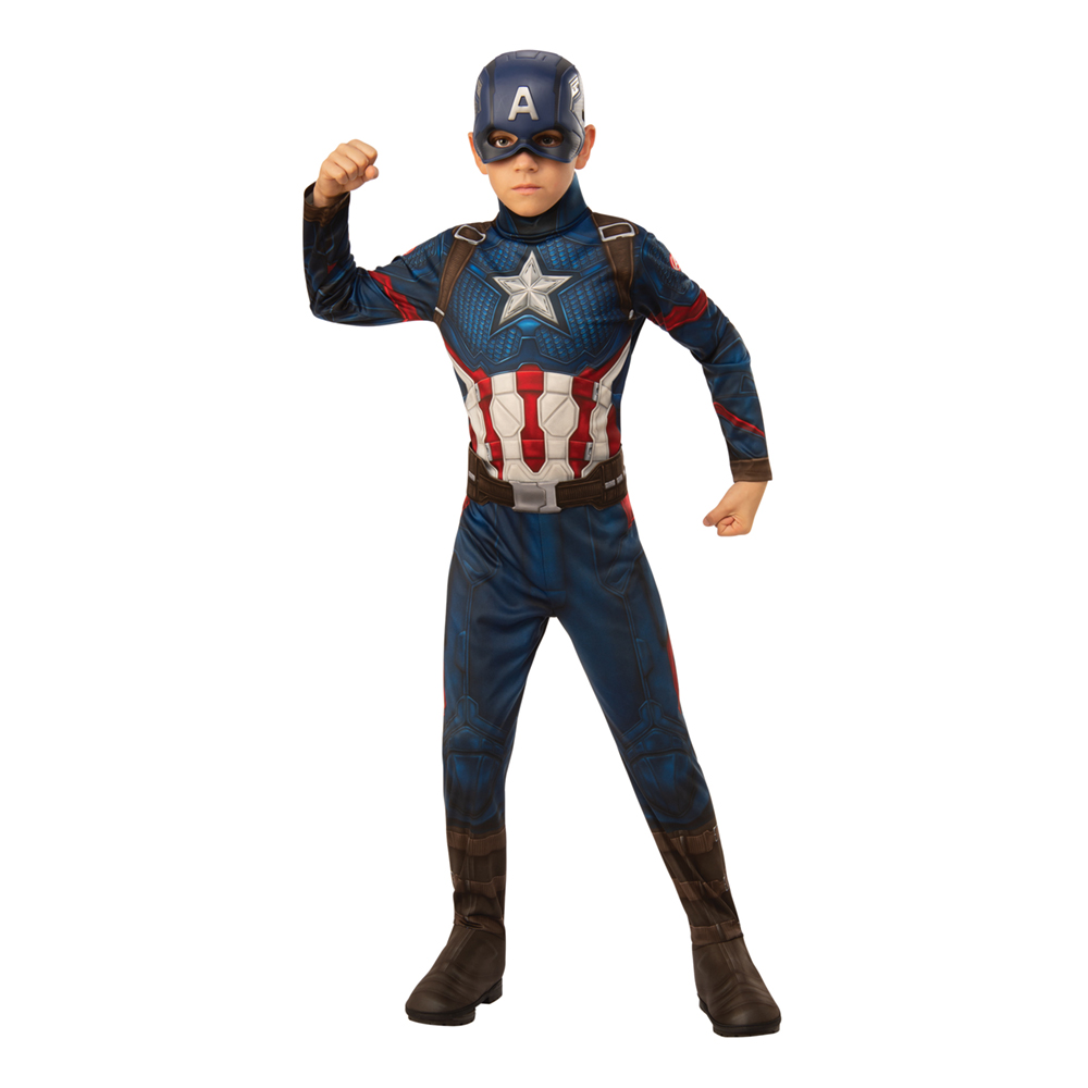 Avengers 4 Captain America Barn Maskeraddräkt - Small