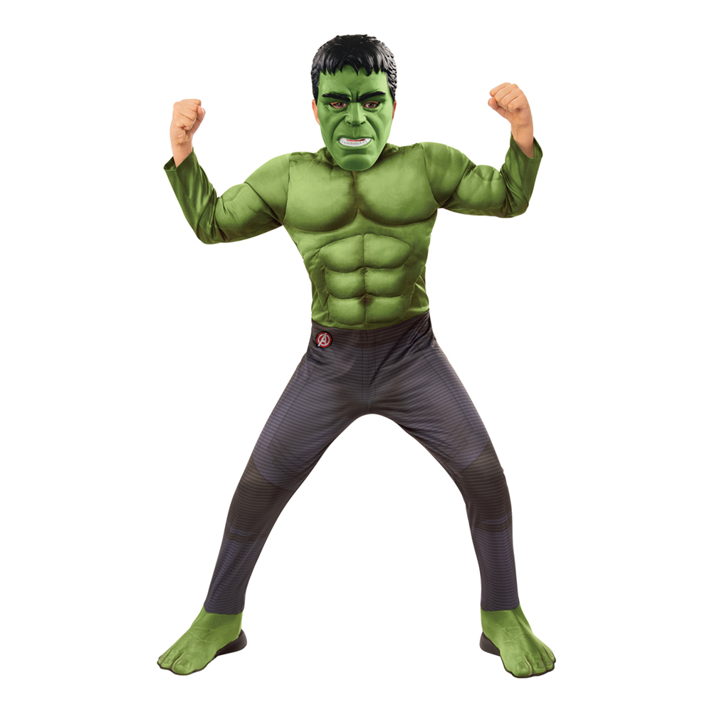 Avengers 4 Hulken Deluxe Barn Maskeraddräkt - Small