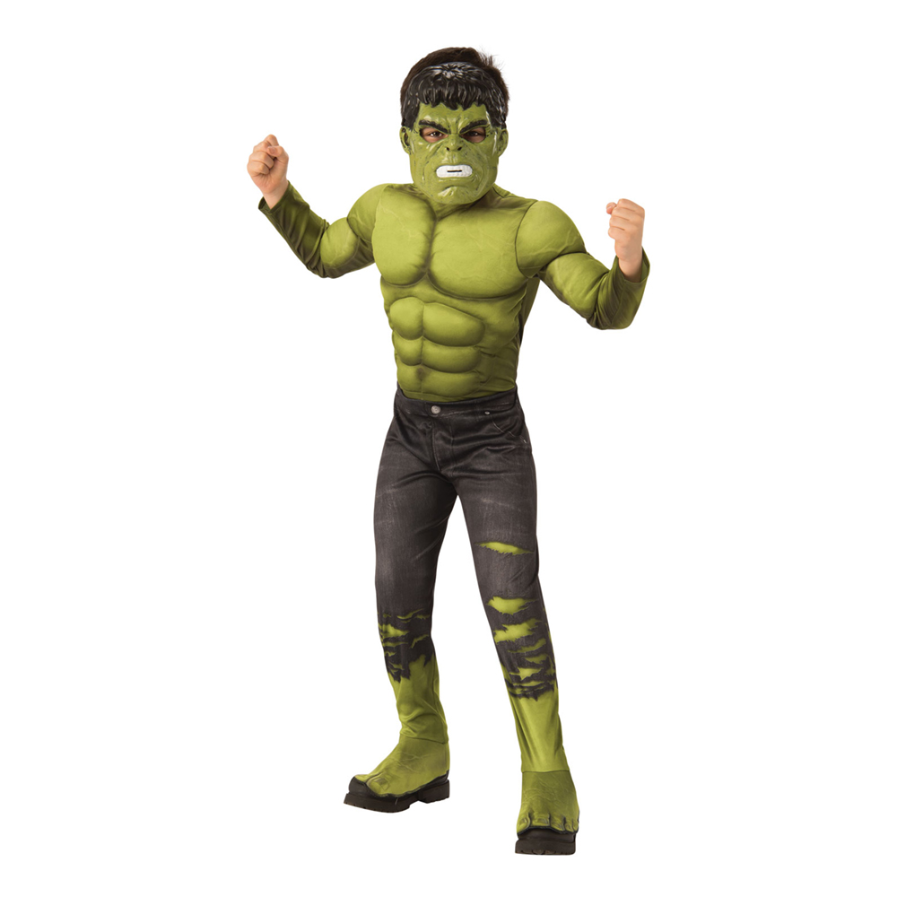 Avengers 4 Hulken Deluxe Barn Maskeraddräkt - Medium