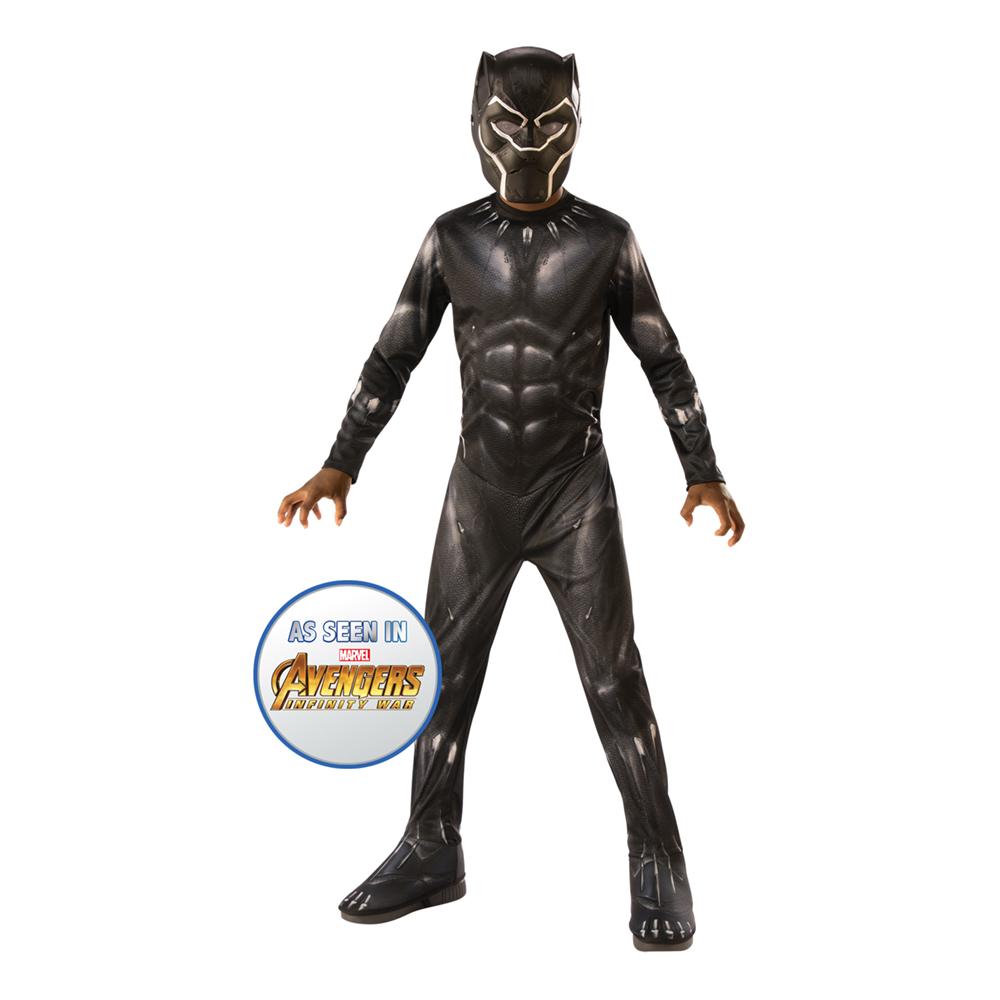 Avengers End Game Black Panther Barn Maskeraddräkt - Large
