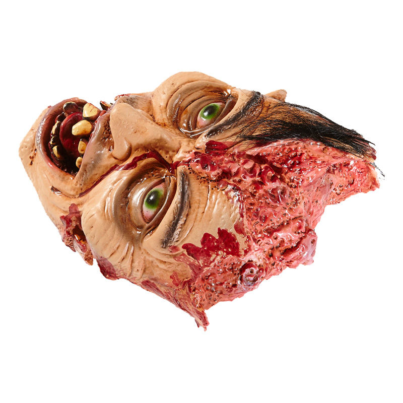 Avhugget Ansikte med Köttsår