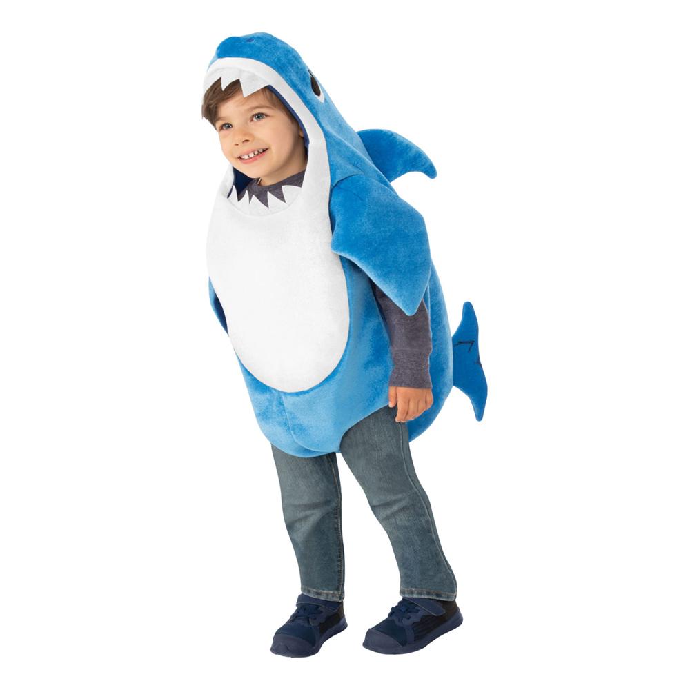 Baby Shark Blå Barn Maskeraddräkt - X-Small