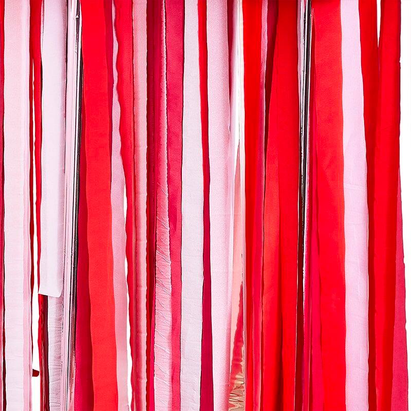Backdrop Streamers Röd/Rosa/Roséguld
