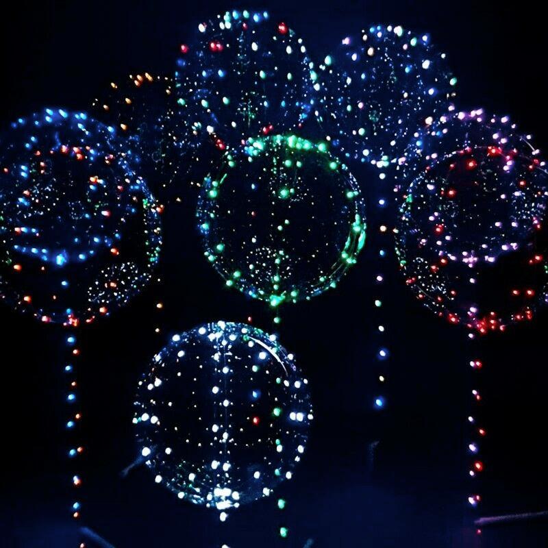Ballonger med LED-Snöre - Blå