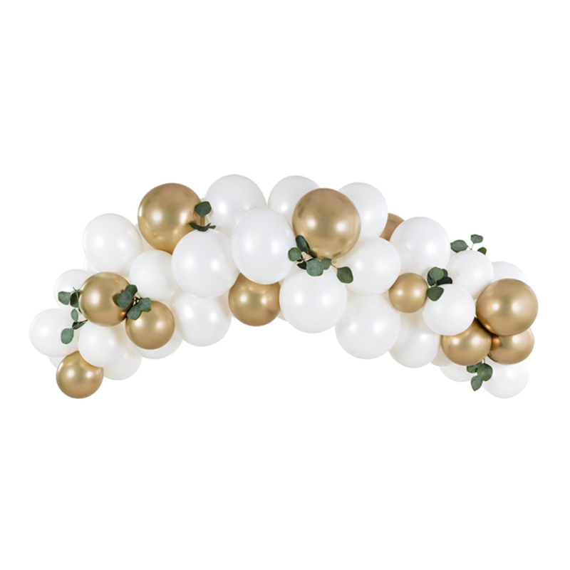 Ballongbåge Guld/Vit Kit