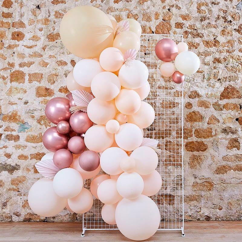 Ballongbåge Persika/Roséguld/Vit Kit