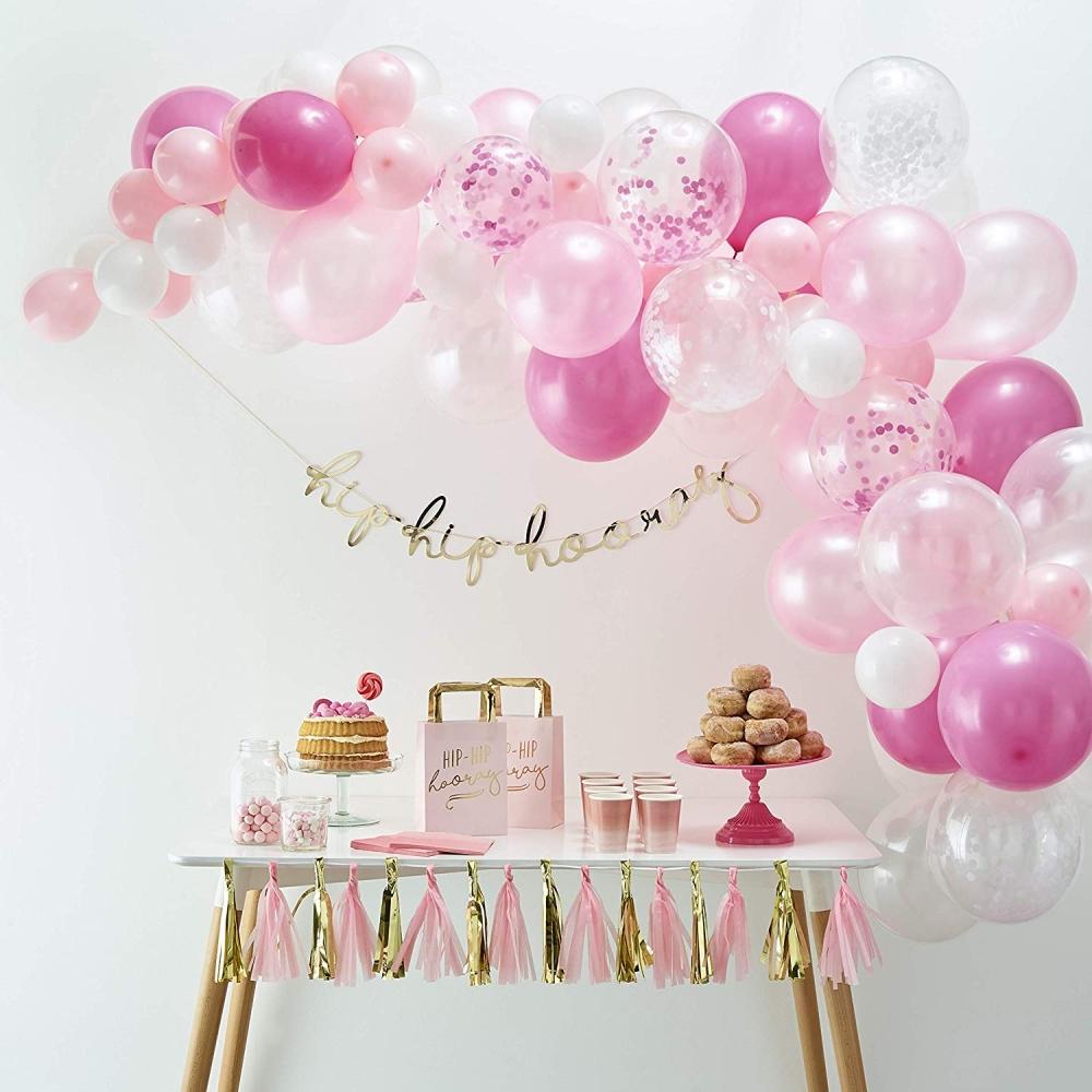Heliumballonger - Ballongbåge Rosa